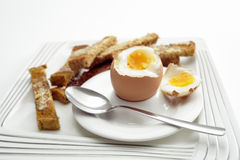 Boiled egg breakfast Royalty Free Stock Photos