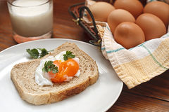 Boiled egg for breakfast Royalty Free Stock Images
