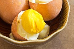 Boiled egg in cup Royalty Free Stock Images