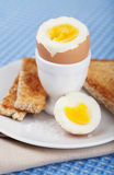 Boiled egg in eggcup Royalty Free Stock Photo