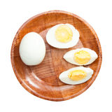 Boiled egg plate Royalty Free Stock Photography