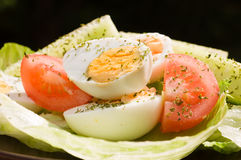 Boiled Egg Salad Stock Photos