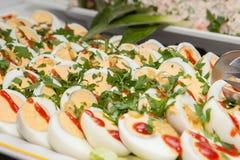 Boiled egg salad Stock Photos