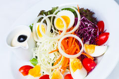 Boiled egg salad Stock Photo