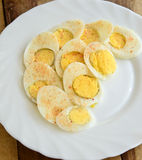 Boiled Egg slices Royalty Free Stock Photo