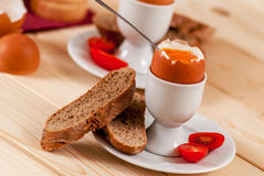 Boiled egg Royalty Free Stock Images