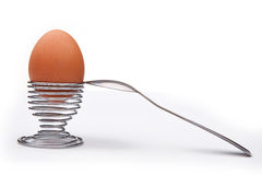 Boiled Egg and stand for eggs Stock Images