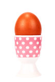Boiled egg in stand Stock Photo