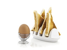 Boiled egg and toast Royalty Free Stock Photos