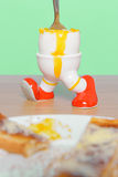Boiled egg and toast breakfast Stock Images