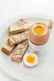 Boiled egg and toast soldiers Stock Photography