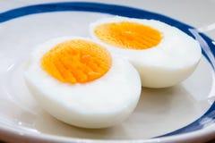 Boiled egg. Two halves of a boiled egg Stock Images