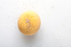 Boiled egg yolk Royalty Free Stock Image