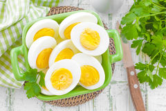 Boiled eggs Royalty Free Stock Image