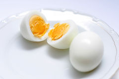 Boiled eggs Stock Image
