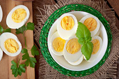 Boiled eggs in a bowl Royalty Free Stock Image