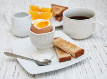 Boiled eggs for breakfast Stock Photo