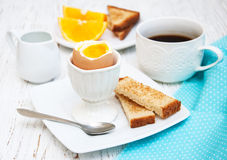 Boiled eggs for breakfast Stock Photography