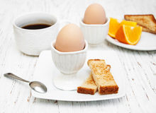 Boiled eggs for breakfast Royalty Free Stock Image