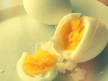 Boiled eggs close up Stock Photography