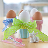 Boiled eggs for easter Stock Images