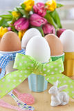 Boiled eggs for easter Stock Photography