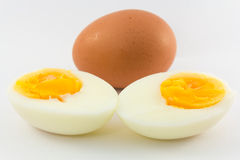 Boiled eggs. Isolated on white background Royalty Free Stock Photos