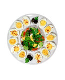 Boiled eggs. One cut in half Stock Images