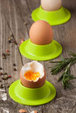 Boiled eggs and rosemary Royalty Free Stock Photos