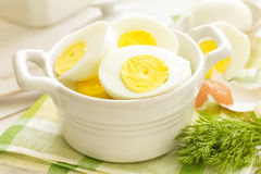 Boiled eggs Stock Photography