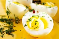 Boiled eggs Stock Photos