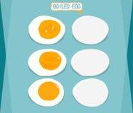 Boiled eggs, sliced in halves Stock Image