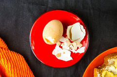 boiled eggs and toast Royalty Free Stock Image