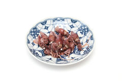 Boiled firefly squid Stock Photography