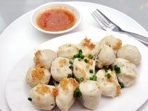 Boiled fish balls royalty free stock image