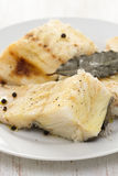 Boiled fish with black pepper Royalty Free Stock Photo
