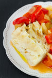 Boiled fish with boiled vegetables Royalty Free Stock Images