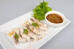 Boiled fish Stock Photo