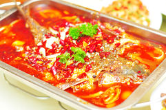 Boiled fish-Hot pepper taste Royalty Free Stock Photography