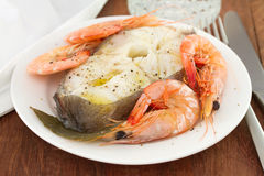 Boiled fish with oil Royalty Free Stock Photos