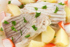 Boiled fish with potato Royalty Free Stock Photos