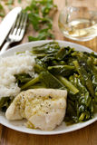 Boiled fish with rice Stock Image