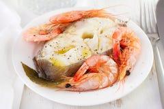 Boiled fish Stock Photos