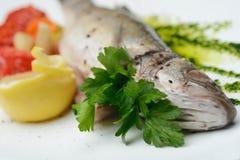 Boiled fish-seafood Stock Photos