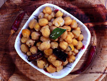 Chana snack-sundal. Boiled and flavour mixed chana south indian snack that is called sundal Stock Photography