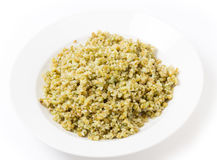 Boiled freekeh in a bowl Stock Photo