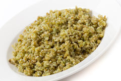Boiled freekeh grains angled Royalty Free Stock Photography