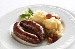 Boiled fresh pork sausage Royalty Free Stock Photo