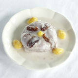 Boiled gingo nuts and sago in sweetened mashed taro Royalty Free Stock Photos