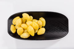 Boiled Ginkgo nut stock image